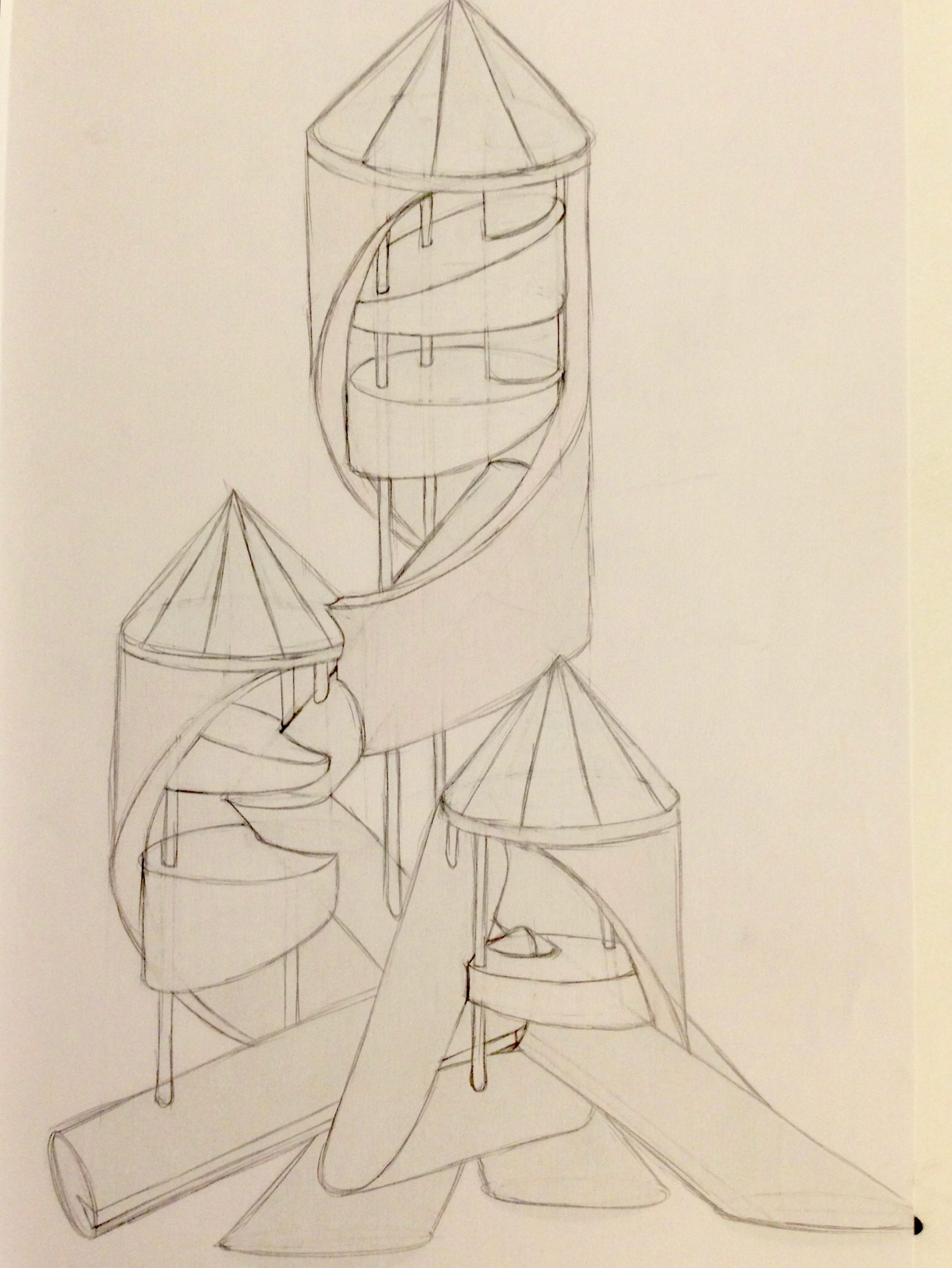 Raumschiff-Statue